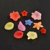 500g Mixed Color Frosted Flower Transparent Acrylic Beads
