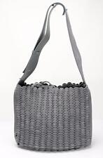 PACO RABANNE Womens Gray Suede Link Tote Shoulder Bag Handbag Purse NEW