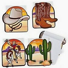 Pack of 12 - Paper Western Cowboy Notepads - Great Party Bag Fillers