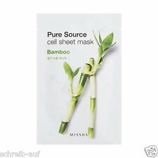 3x MISSHA Pure Source Cell Sheet Mask (Bamboo)