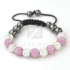 11 Crystal Disco Ball Rhinestones Beads Friendship Adjustable Bracelet 30 Color