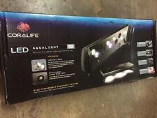 """Coralife Aqualight LED aquarium light fixture w Tri-Lamps and Lunar Blue 30"""" NEW"""