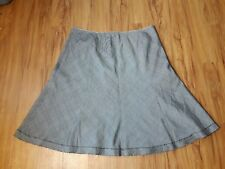 Cynthia Cynthia Steffe A-Line Flare Skirt Womens 12 Gray/Multi Frayed Hem Lined