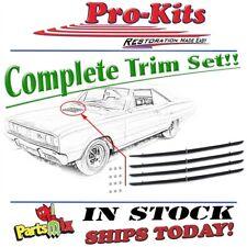 Mopar 67 Dodge Coronet R/T Hood Scoop Chrome Louver Insert Trim Bezel 4 pc. Set