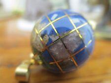 Lapislazulianhänger Globus Anhänger Pendant  Gold 750   Schmuckstein Sammler