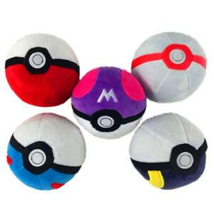 Pokemon Pokeball Master Ball Great ball Cosplay12cm Plush Toy Doll UK Stock