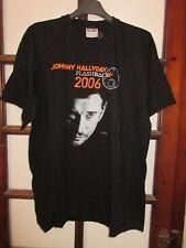 T-shirt JOHNNY HALLYDAY flashback 2006 noir XL