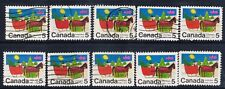 Canada #520(1) 1970 5 cent CHILDREN'S DRAWINGS HORSE-DRAWN SLEIGH 10 USED