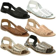 Leather Slingback Slip On Sandals & Flip Flops for Women