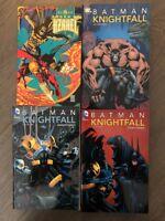 BATMAN: KNIGHTFALL Complete Saga / LOT 4 enormous GN TPB DC COMICS Sword Azrael