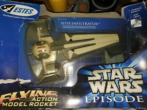 Star Wars Episode 1 SITH INFILTRATOR Flying Model Rocket Estes 1998 New In Box