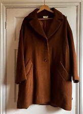 Soft Wool Coat Brown Tan Maxi Coat Size 16 By Kaliko.