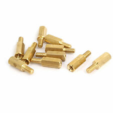 M3 Male to Female Thread Insulated Brass Standoff Hexagonal Spacer 10+6mm 10pcs