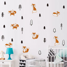 Fox In The Forest Wall Sticker Woodland Animal Wall Decal Kids Nursery Decor