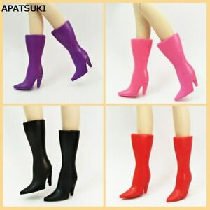 4 Colors Doll Fashion High Heel Long Boots for 1/6 BJD Barbie Doll Kids Toy