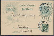 DOA Jahrhundertpostkarte + blauer Stempel Moschi 1901 nach Heidelberg (S15325)