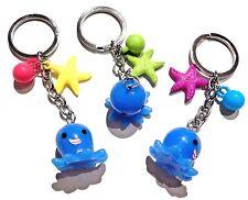 KAWAII BABY OCTOPUS KEYCHAIN starfish charm mascot kitsch Cthulhu ocean cute 4G