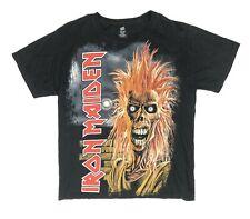 Hanes Mens M Black T-Shirt, Iron Maiden Hairy Eddie Graphic - Vintage