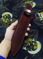knife blade sheath dagger scabbard case bag cow leather fit for 30x5 cm brown
