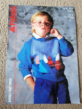 Patrons child double knitting knit boats sea sweater jumper top pattern top 3313