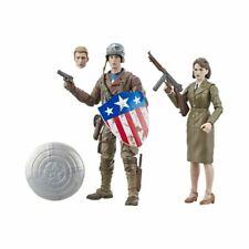 Hasbro Marvel Legends Series Captain America + Peggy Carter- new in box