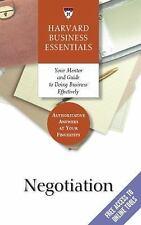 Negotiation (Harvard Business Essentials Series) by Richard Luecke & Harvard Bus