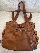 Kooba Hand Bag Satchel Hobo Brown Leather H 11 in L 14 in