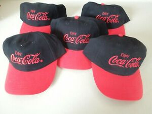 COCA COLA BASEBALL CAPS - SET OF 5 - BRAND NEW