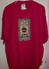 woman's top blouse shirt t-shirt red whnken blynken nod Red new B-B-Q sun
