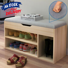 Bench Shelf Rack Box Organiser Shoe Cupboard Wooden Shoes Storage ACB#