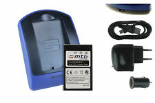 Baterìa+Cargador (USB) BLS-1 para Olympus Digital SLR E-400, 410, 420, 450