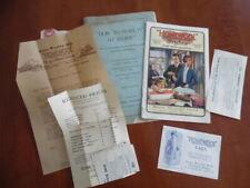 1922 Home Woolen Mills Homewool Wool Coat Blanket Catalog Ephemera lot Vintage
