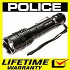 POLICE Stun Gun 1158 650 BV Metal Rechargeable With LED Flashlight <br/> 650 Billion Stun Gun + Lifetime Warranty + FREE Case