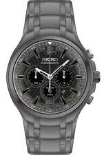 Seiko SSC453 Recraft Chronograph Solar Analog Mens Watch Stainless Steel 100m WR
