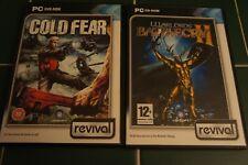 Cold Fear PC DVD et seigneurs de guerre Cri de bataille 2 Bundle Revival PC CD-ROM Très bon état Ubisoft