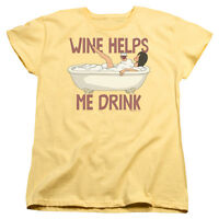 Bob's Burgers TV Show Linda WINE HELPS ME DRINK Women's T-Shirt All Sizes