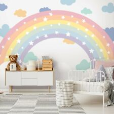 Vlies Fototapete Regenbogen Kinderzimmer Sterne Mädchen bunt Modern Fantasy 421