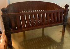 Victorian Cast Iron Fireplace Basket Coal Box Wood Log Holder Insert