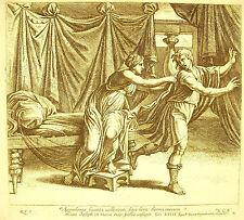 Joseph fuyant la femme de Putiphar XXXIX La Bible Nico Chaperon 1649 ap Raphaël