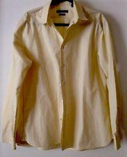 Men's John Varvatos U.S.A. Dress Shirt Slim Fit 17 34/35 Yellow EUC