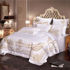 6pcs High-density Bedding Set Luxury Egyptian Cotton Embroidery Duvet Set King