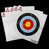 10Pcs Thick Gun Paper Targets Shooting Hunting For Rifle Pistol Range Practice