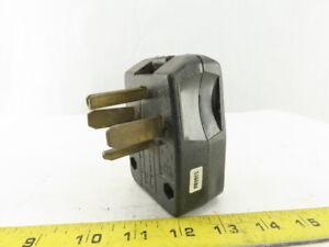 Leviton 30A 125/250V 4 Pole Grounded Angle Blade Appliance Male Plug