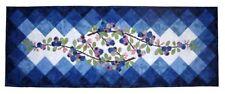 Wildfire Designs Alaska Berry Blues Table Runner Applique Quilt Pattern