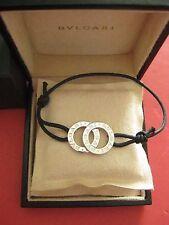 Authentic Designer New Bulgari Fortuna Sterling Silver Bracelet w/ Box + Receipt