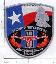 Texas - Fort Worth Arson Bomb Squad TX Fire Dept Patch