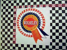 Wolseley Rosette Sticker - Hornet 15/60 1500 15/60 16/60 6/110