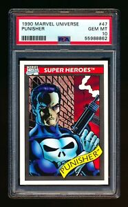 1990 MARVEL UNIVERSE #47 PUNISHER SUPER HEROES FRANK CASTLE PSA 10 GEM MINT!