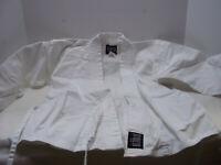 Bold Look Karate Taekwondo Youth Size 0 White Jacket Pants Outfit Martial Arts