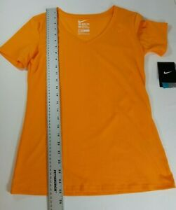 The Nike Tee Athletic Cut Size S Dri-Fit in Orange Nike Swoosh New With Tags NWT